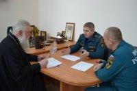 Встреча протоиерея Геннадия Макаренко с руководством пожарно-спасательной части №2