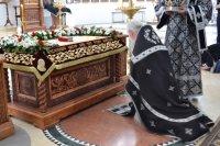 6 апреля 2018 года, в Великую Пятницу, в Благовещенском греческом храме г. Ростова-на-Дону состоялась вечерня с выносом Плащаницы